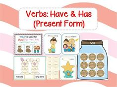 Verbs Have and Has (Present Form) Pack Speech Pathology, Speech Therapy, Title 1 Reading, Verb To Have, First Grade Words, Sorting Games, Sentence Structure, Figurative Language, Therapy Ideas