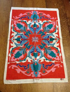 Vintage  Unused Kitchen Towel Mod Paisley by AStringorTwo on Etsy