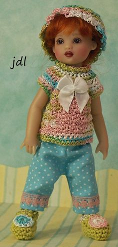 "Spring Pastels  for NEW TINY [6.5""] Riley Kish by JDL Doll Clothes #KishCompany"