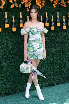 Kendall Jenner in Dolce & Gabbana at  Veuve Clicquot's Polo Classic