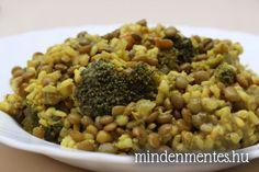 Lencse curry brokkolival