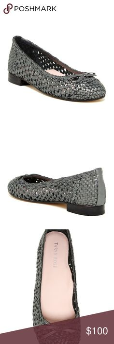 011c4bee72b NWT Taryn Rose Bobo Woven Ballet Flat Pewter NEW Taryn Rose Pewter Woven  Ballet Flats Shoes