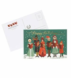 Our Carolers Christmas postcards are a great way to send several cards at once. Requires less postage than a standard card in the United States.