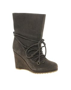 Chinese Laundry Penny Crossing Leather Wedge Boots
