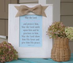 Baby blessing nursery decor baptism by abidingwordcreations, $32.00