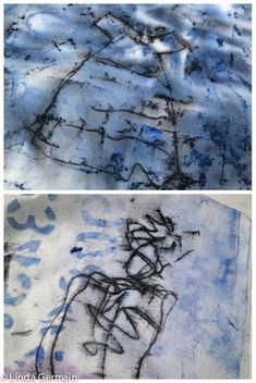 Trace monoprint is a great method of printmaking without a press. It is quick, low tech and spontaneous. Use this printmaking technique on fabric or paper