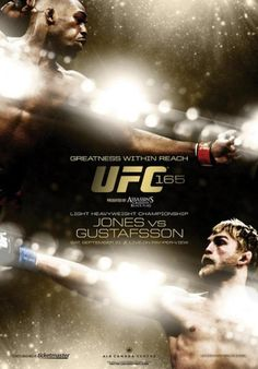 UFC Jones vs Gustafsson – Saturday, September live on PPV from the Air Canada Centre in Toronto, Canada Alexander Gustafsson, Ufc Events, Air Canada Centre, Jon Jones, Event Poster Design, Design Posters, Sports Graphic Design, Sports Graphics, Boxing