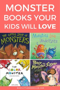 Kids love reading books about monsters and often use fear to work through their emotions. Check out our favorite monster books for kids! Monster Book Of Monsters, Love Monster, Preschool Books, Preschool Activities, Subscriptions For Kids, Baby Sensory Play, Book Subscription, Educational Activities For Kids, Early Literacy