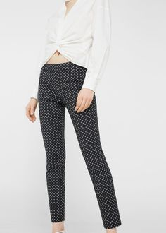 Pantalon imprimé coton | MANGO