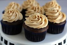 Chocolate Peanut Butter and Banana Cupcakes, Ultimate Recipe Showdown http://www.foodnetwork.com/recipes/chocolate-peanut-butter-and-banana-cupcakes-recipe/index.html