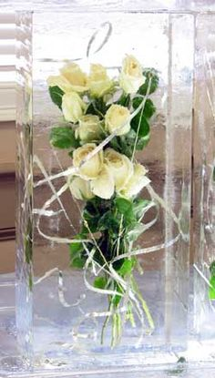 Unexpected center pieces will draw guests to explore the corners of the room | Ice Sculptures for Weddings and other Events in Boston, MA