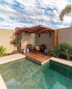 If you are working with the best backyard pool landscaping ideas there are lot of choices. You need to look into your budget for backyard landscaping ideas Small Backyard Pools, Backyard Pool Designs, Swimming Pools Backyard, Swimming Pool Designs, Backyard Patio, Backyard Landscaping, Small Patio, Patio Design, Outdoor Pool