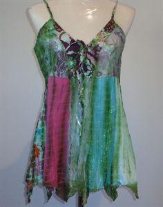$25.00 Boho Flower child, green lace top, freeness,.Hippy Clothing | Bongs Australia