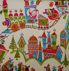 Vintage Wrapping Paper Trains