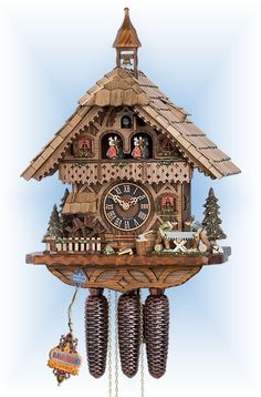 Chalet style 8 day Sawyers Mill cuckoo clock by Hones Cuckoo Clocks For Sale, Modern Cuckoo Clocks, Coo Coo Clock, Wood Mill, Swiss Cottage, Mechanical Clock, Chalet Style, Cool Clocks, Wood Worker