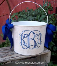 Personalized volleyball easter basket pail monogram easter basket personalized easter basket easter pail easter bucket monogram custom burlap bucket negle Choice Image