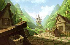 Landscape for game on Behance