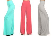 GroopDealz | Solid Palazzo Pants - 11 Colors!