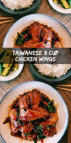Today I am sharing with you a super UNDERRATED dish that honestly deserves all the hype – Taiwanese 3 Cup Chicken (San Bei Ji). Asian Noodle Recipes, Healthy Asian Recipes, Asian Chicken Recipes, Easy Chinese Recipes, Vegetarian Recipes, 3 Cup Chicken, Chicken Wings, Chinese Cooking Wine, Stuffed Whole Chicken