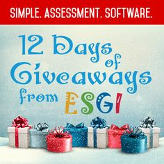 12 Days of Giveaways! ESGI has partnered with 12 Bloggers/Presenters to hook you up with a SLEIGH FULL OF PRIZES!