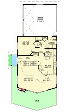 Two Bedroom Vacation Retreat - 6770MG | 2nd Floor Master Suite, Butler Walk-in Pantry, CAD Available, Loft, Mountain, PDF, Photo Gallery, Sloping Lot, Vacation | Architectural Designs