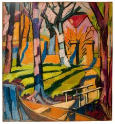 Hans Thuar (1887-1945) - Home on Canal, 1925