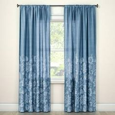 Stacy Curtain Panel from Beekman 1802 FarmHouse is inspired by the joy of wildflowers. These pretty curtains are made of 100% cotton and have layers of flowers over the bottom half of the panels.