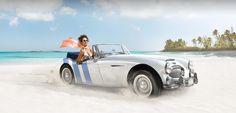 Austin Healey used in ad for The Bahamian Riviera - Baha Mar