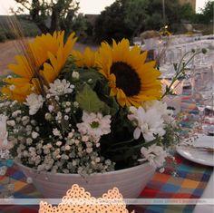 Boda M&A - Centros de mesa #girasoles