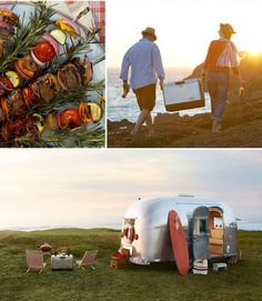 Vintage Airstream Honeymoon... Or anniversary. This is def my style.