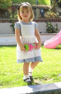 Alice in Wonderland home made costume. I think this would be a great costume for Hannah Beth.