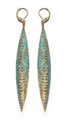 Jade Gedeon: brass earrings