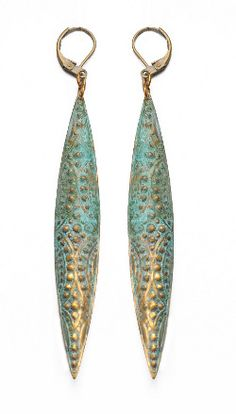 Jade Gedeon: brass earrings