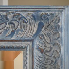 Beautiful mirror by the Contended Painter - in ASCP Napoleonic Blue and a Paris Grey wash.
