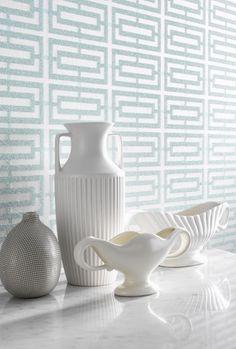 aqua trellis wallpaper