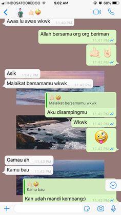 Quotes Lucu, Quotes Galau, Jokes Quotes, Cute Texts, Funny Texts, Funny Jokes, Cute Relationship Texts, Cute Relationships, Text Pranks