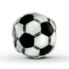 "Sterling Silver Charms Soccer Ball for Bracelet NEW! Place your order today by simply commenting in the section below with ""I want"" :) this makes a great holiday gift idea for the soccer fan in the family.   Compatible with Pandora and Bloomingdale's bracelets.   Sterling silver bead soccer ball with black enamel Jewelry Bracelets"