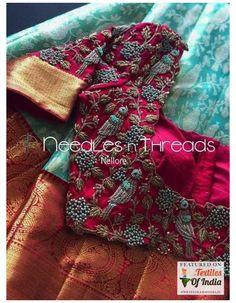 Wedding Saree Blouse Designs, Best Blouse Designs, Pattu Saree Blouse Designs, Half Saree Designs, Blouse Neck Designs, Choli Designs, Wedding Blouses, Lehenga Blouse, Saree Dress