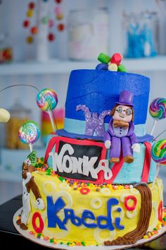 Willy Wonka and the chocolate factory cake made by me, SweetEms Cakery.