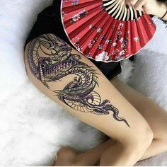 13 Best Dragon tattoo hip images in 2019 Dragon Tattoo Hip, Dragon Tattoo For Women, Chinese Dragon Tattoos, Dragon Sleeve Tattoos, Tribal Sleeve Tattoos, Dragon Tattoo Designs, Leg Tattoos, Body Art Tattoos, Girl Tattoos