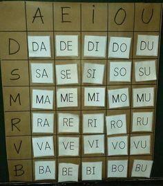 Tablero de sílabas