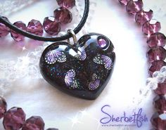 Midnight purple butterfly necklace, womens jewellery, purple black heart, statement necklace, handmade jewellery, Gift for women by Sherbetfish on Etsy https://www.etsy.com/listing/496072043/midnight-purple-butterfly-necklace