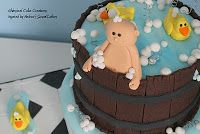 Bathtub cake