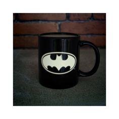 Paladone Products Ltd. DC Comics Glow in the Dark Batman Logo Ceramic Mug Batman Logo, Gotham City, Toy Store, Stoneware, The Darkest, Dc Comics, Glow, Ceramics, Mugs