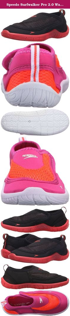 Speedo Surfwalker Pro 2.0 Water Shoes (Toddler). Forget trippy flip-flops and athletic shoes that take days to dry and pick up a pair of speedo's toddler surfwalker pro 2.0 water shoes. This style features a durable four-way stretch quick-to-dry comfortable upper and a adjusting strap closure for easy on and off. The s-trac thermoplastic rubber outsole offers water management and flow dispersion which means the little ones will get big protection from hot ground and sharp stuff too. Pick…