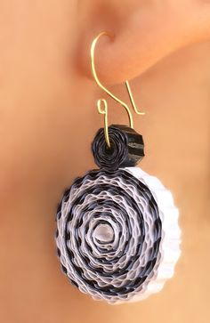 Paper Jewelry. Recycled Corrugated Cardboard Paper Earrings. Paper Quilling…
