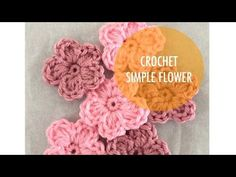 Simple Crochet Flower – Pattern and Tutorial – Hello Yellow Yarn