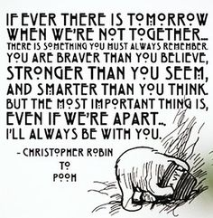 if there ever is tomorrow when we're not together...