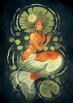 Lumme by Jen Mermaid Drawings, Mermaid Art, Art Drawings, Fantasy Drawings, Mermaids And Mermen, Character Design Inspiration, Cute Art, Art Inspo, Amazing Art