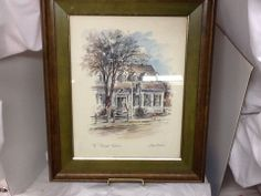 SOLD******The Raleigh Tavern Coby Carlson Art Water Color Signed Vintage Historical old